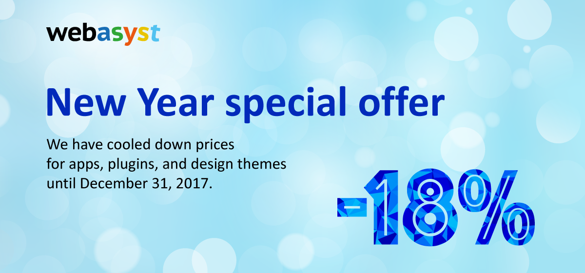 New Year special offer 2018