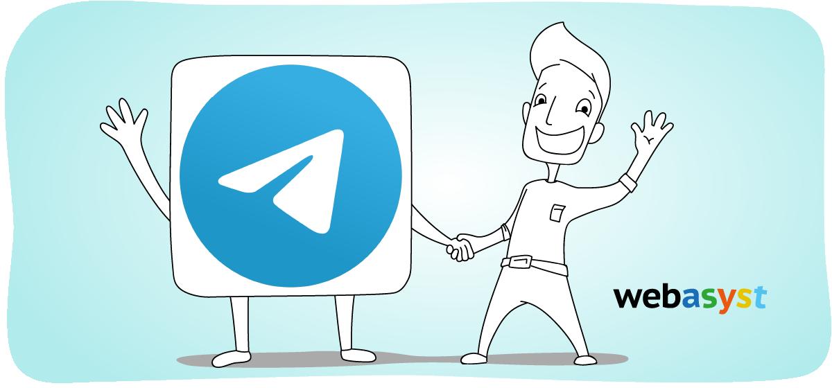 Канал Webasyst в «Телеграме»