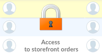 Restricting access to storefront orders
