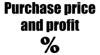 Purchase price and profit